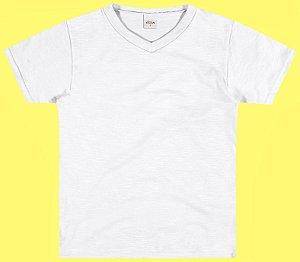 Camiseta Meia Malha Menino Branco - Elian