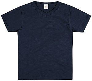 Camiseta Meia Malha Menino Azul - Elian