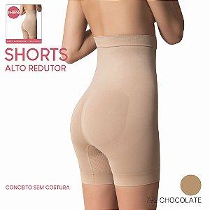 SHORTS ALTO REDUTOR SEM COSTURA C/ SILICONE NO COS