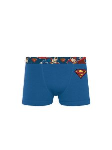 CUECA BOXER COTTON C/ ESTAMPA LATERAL INFANTIL WARNER