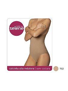 CALCINHA ALTA REDUTORA SEM COSTURA C/ SILICONE NO COS