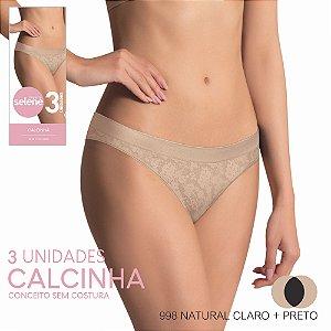 CALCINHA S/ COSTURA -KIT 3  UNIDADES