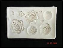 Molde de Silicone 9 Florzinhas