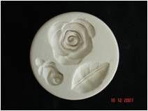 Molde de Silicone Rosa, Folha e Botão