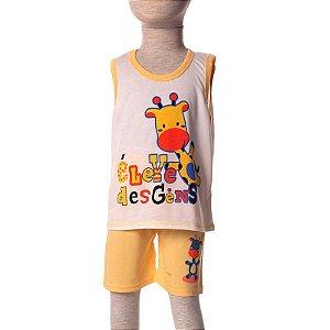 Short Doll Infantil Malha Regata Girafinha