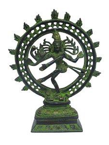 Shiva Nataraj Bronze Verde 25cm
