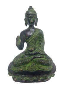 Buda da Medicina Bronze Verde