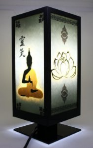 Luminária Mesa/Abajur Buda Lótus