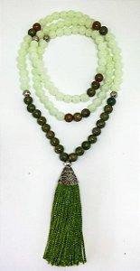 Japamala Malaquita e Quartzo Verde