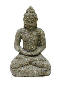 Escultura Buda Areia Vulcânica 38cm
