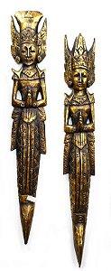 Rama e Sita Parede Dourado 1m