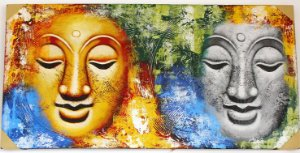 Tela duas Faces Buda