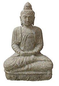 Escultura Buda Areia Vulcânica 65cm