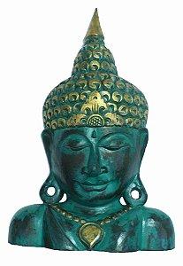 Busto Buda Madeira Verde