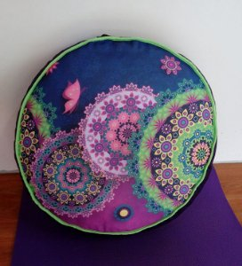 Almofada Zafu Mandalas Coloridas