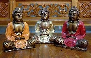 Buda Meditando Resinado 21cm
