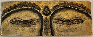 Painel Madeira Olhos de Buda