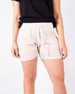 Shorts Moletom Feminino Rosa Ouro