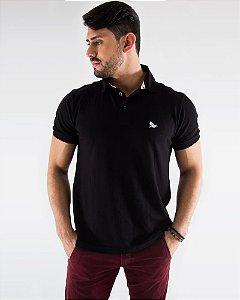 Camisa Polo Masculina Preta