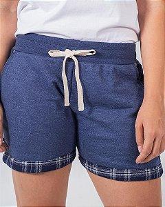 Shorts Moletom Feminino Azul Sul