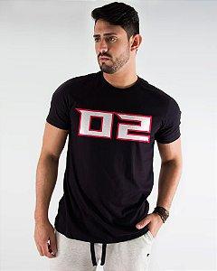 Camiseta Masculina Estampada Preta Atlanta