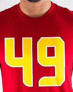 Camiseta Masculina Estampada Vermelha San Francisco