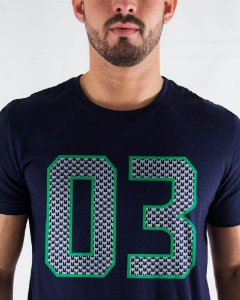 Camiseta Masculina Estampada Azul Seattle