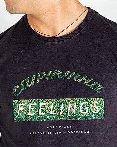Camiseta Masculina Estampada Preta Caipirinha