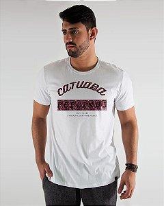 Camiseta Masculina Estampada Branca Catuaba