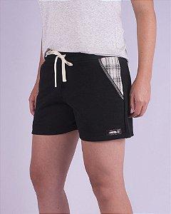 Shorts Moletom Feminino Preto Sudeste