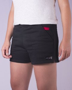 Shorts Moletom Feminino Preto Sport