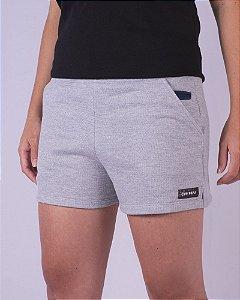 Shorts Moletom Feminino Cinza Sport