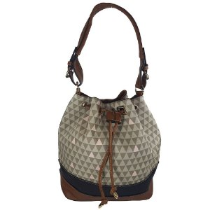 Bolsa Bag Dreams Saco Triangle Cinza