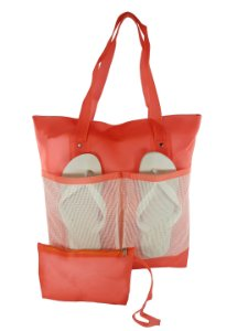 dca2b3037 Bolsa Bag Dreams De Praia Impermeável Com Bolsos Coral