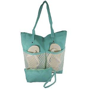 Bolsa Bag Dreams De Praia Impermeável Com Bolsos Azul Tiffany