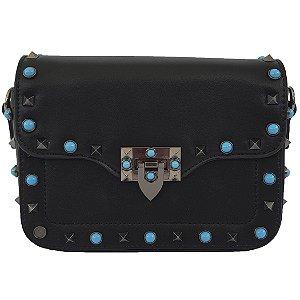 Bolsa Bag Dreams Valentina Com Spike Azul Preta