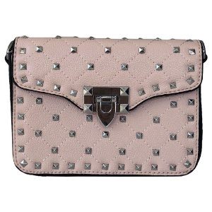 Bolsa Bag Dreams Tacia Com Spikes Rosa