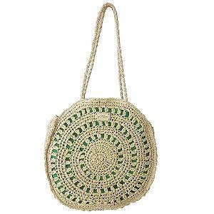Bolsa Bag Dreams Redonda em Palha Verde