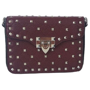 Bolsa Bag Dreams Tacia Com Spikes Vinho