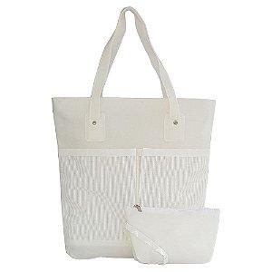 Bolsa Bag Dreams De Praia Impermeável Com Bolsos Branca