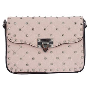Bolsa Bag Dreams Tacia Com Spikes Grande Rosa