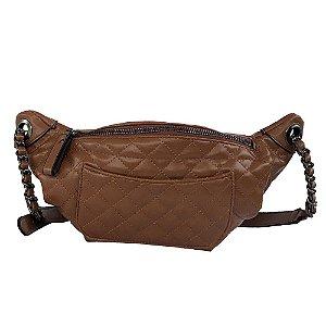 Pochete Bag Dreams Em Matelassê Caramelo