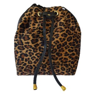 Bolsa Bag Dreams Mini Saco Animal Print Preta