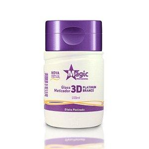 Magic Color Mini Gloss Matizador 3D Platinum Branco  Efeito Platinado 100ml