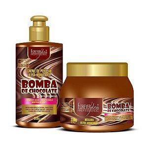 Forever Liss Kit Bomba de Chocolate com Creme e Máscara 250g
