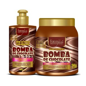 Forever Liss Kit Bomba de Chocolate com Creme e Máscara 1kg