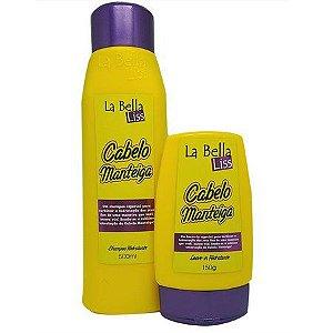 La bella Liss Cabelo Manteiga Kit Shampoo 500ml + Leave-in 150g