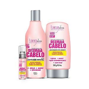 Forever Liss Kit Desmaia Cabelo Shampoo Condicionador e Sérum