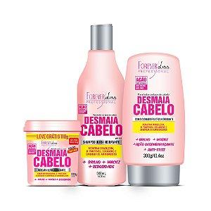 Forever Liss Kit Desmaia Cabelo Shampoo Condicionador e Máscara 350g