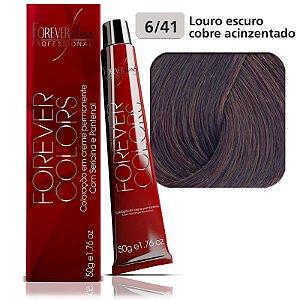 Forever Colors Coloração - Cobre Acinzentado 6-41 Louro Escuro